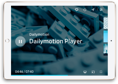 Dailymotion player iPad
